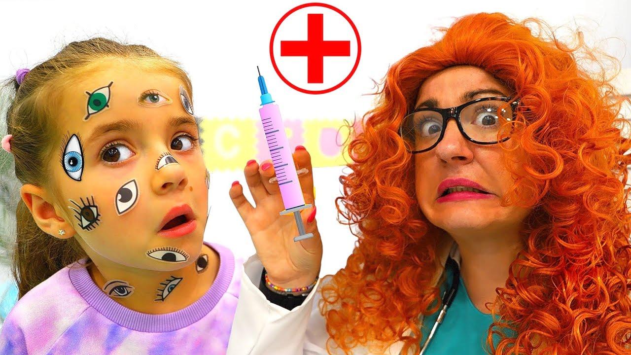 Ruby and Bonnie Get Sticker Pox & Visit Nurse Granny
