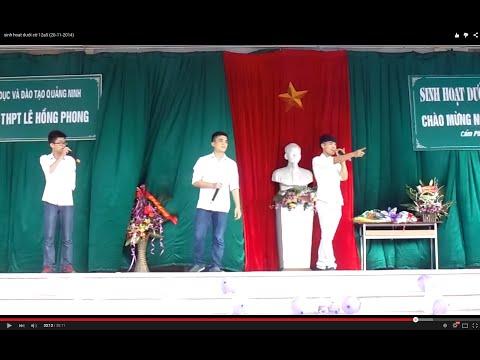 sinh hoạt dưới cờ 12a5 (20-10-2014)