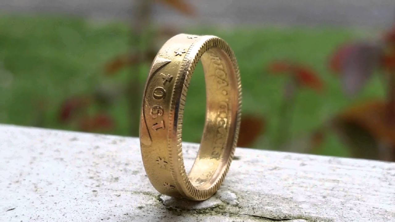 $5 liberty gold piece coin ring