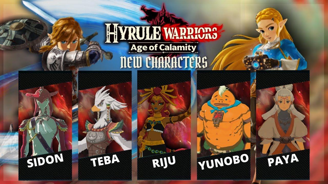 Hyrule Warriors Age Of Calamity New Character Concepts Sidon Teba Riju Yunobo Paya Youtube