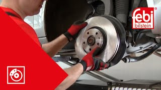 [EN] Front brake pad and disc change - febi bilstein Technical Video
