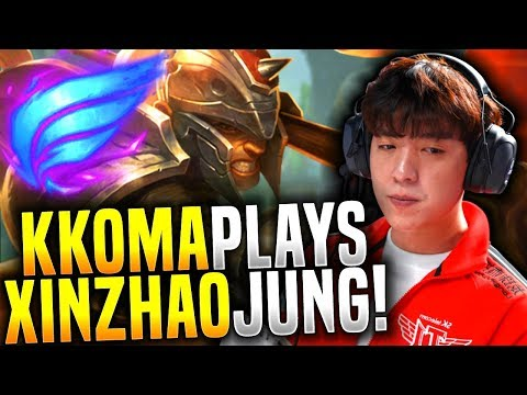 SKT T1 Coach kkOma Shows Why Xin Zhao Jungle is Op! - kkOma Xin Zhao Jungle! | SKT T1 Replays