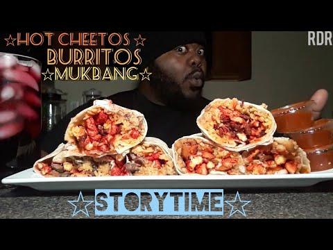 ☆Hot Cheetos Burrito Mukbang☆(StoryTime)[Eating Show]