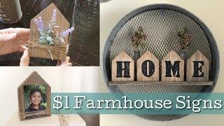 DIY Farmhouse Decor/ Michaels Wood Houses
