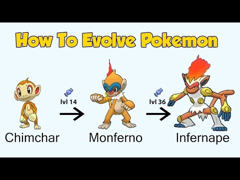 How To Evolve Pokémon - Generation 4 Sinnoh (Animated Sprites)