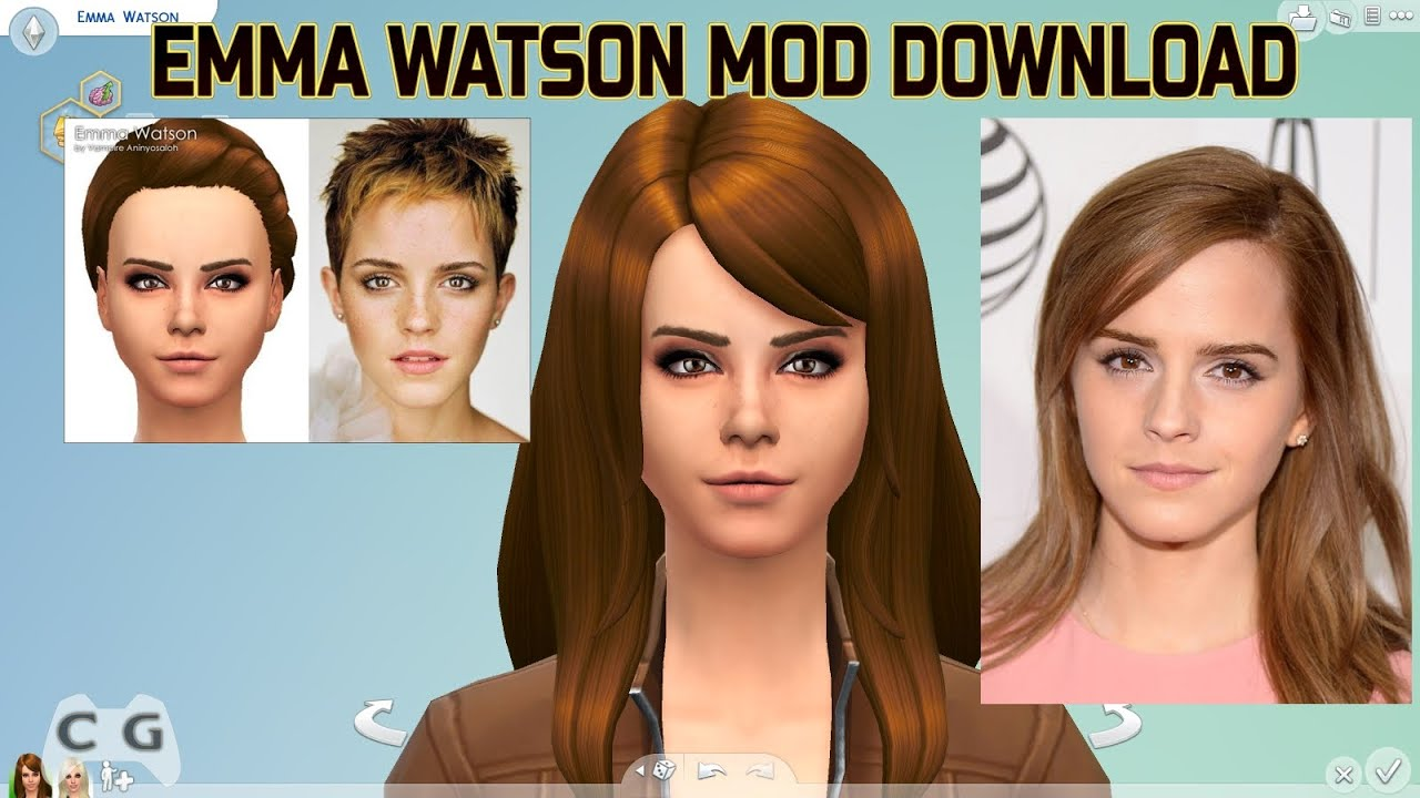 The Sims 4 Mods 1 Emma Watson Links Download - Youtube-7036