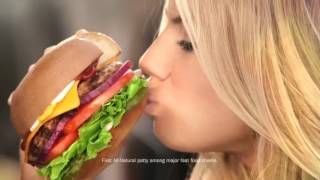 Repeat youtube video Hardees   The All Natural Burger feat Charlotte McKinney  Au Naturel  Commercial