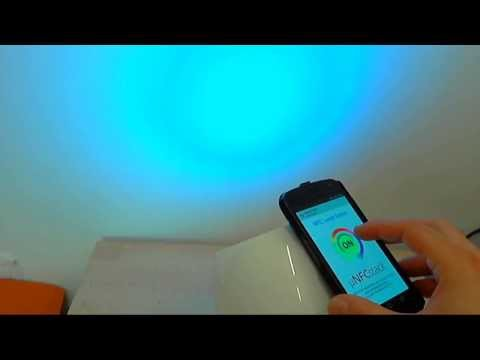 NFC Color Changing Lamp using MicroNFCStack