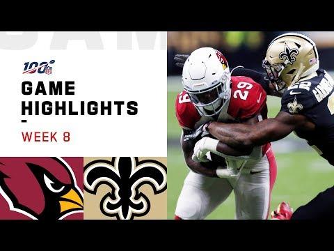 Cardinals vs. Saints Week 8 Highlights | NFL 2019