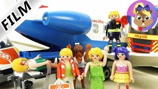 Crash d'avion Playmobils Next Topmodel - Intervention des pompiers avec Martin Brie | Film Playmobil