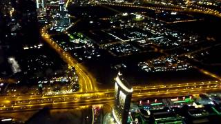 124th floor - night view from the top of Burj Khalifa tower,(world`s tallest building), Dubai HD