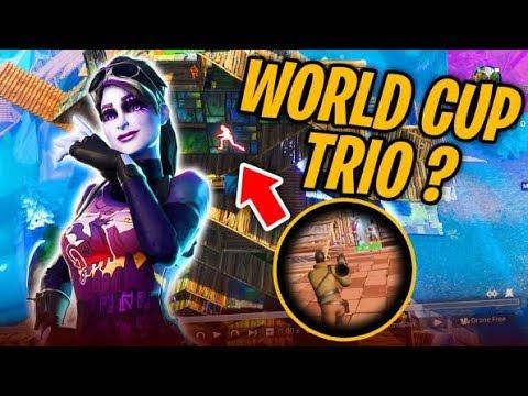 JE JOUE UNE GAME DE LA WORLD CUP TRIO ?!