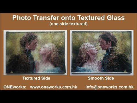 DIY Transfer Photo onto Textured Glass Surface
