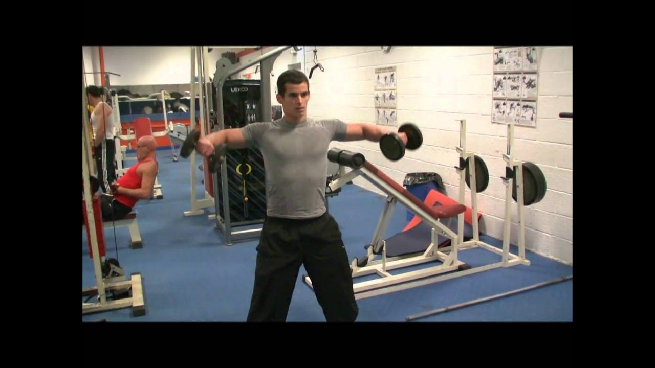 Exercice de musculation avec haltère - YouTube