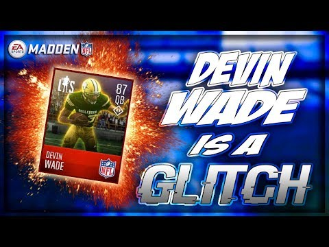 MADDEN MOBILE 18 GAMEPLAY!! DEVIN WADE IS A GLITCH!! 92 SPEED!!