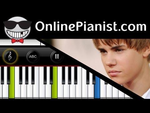 Justin Bieber ft Boyz II Men  Fa La La  Piano Tutorial