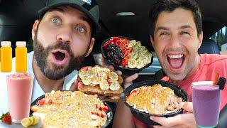 JOSH & JOE'S ULTIMATE CLEAN EATING MUKBANG!! (My Favorite Acai Bowl!!!)