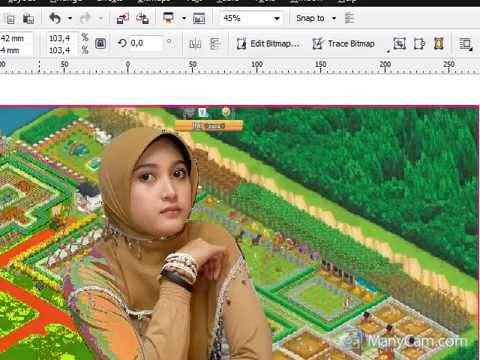 Cara Memotong Gambar Pake Corel Draw X5 Youtube