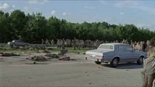 The Walking Dead Car Clothesline Scene