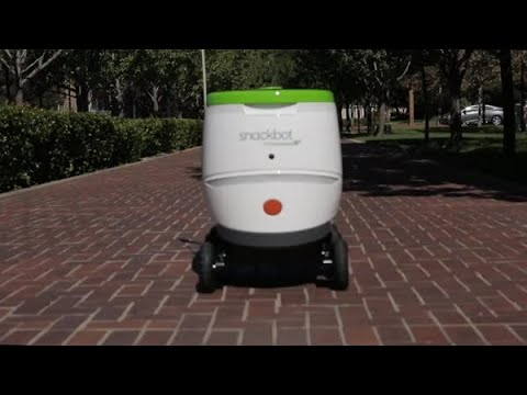 Justin - Robot Will Deliver Snacks To Students At A College In California