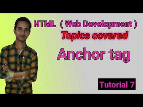 HTML ( Web Development ) | Anchor Tag