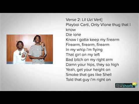 Playboicarti X Lil uzi vert-Firearm(lyrics NEW