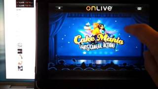 OnLive iPad viewer app playing a game