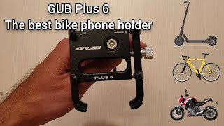 GUB Plus 6 - the best phone holder for Xiaomi M365, electric scooters, bikes and motorcycles