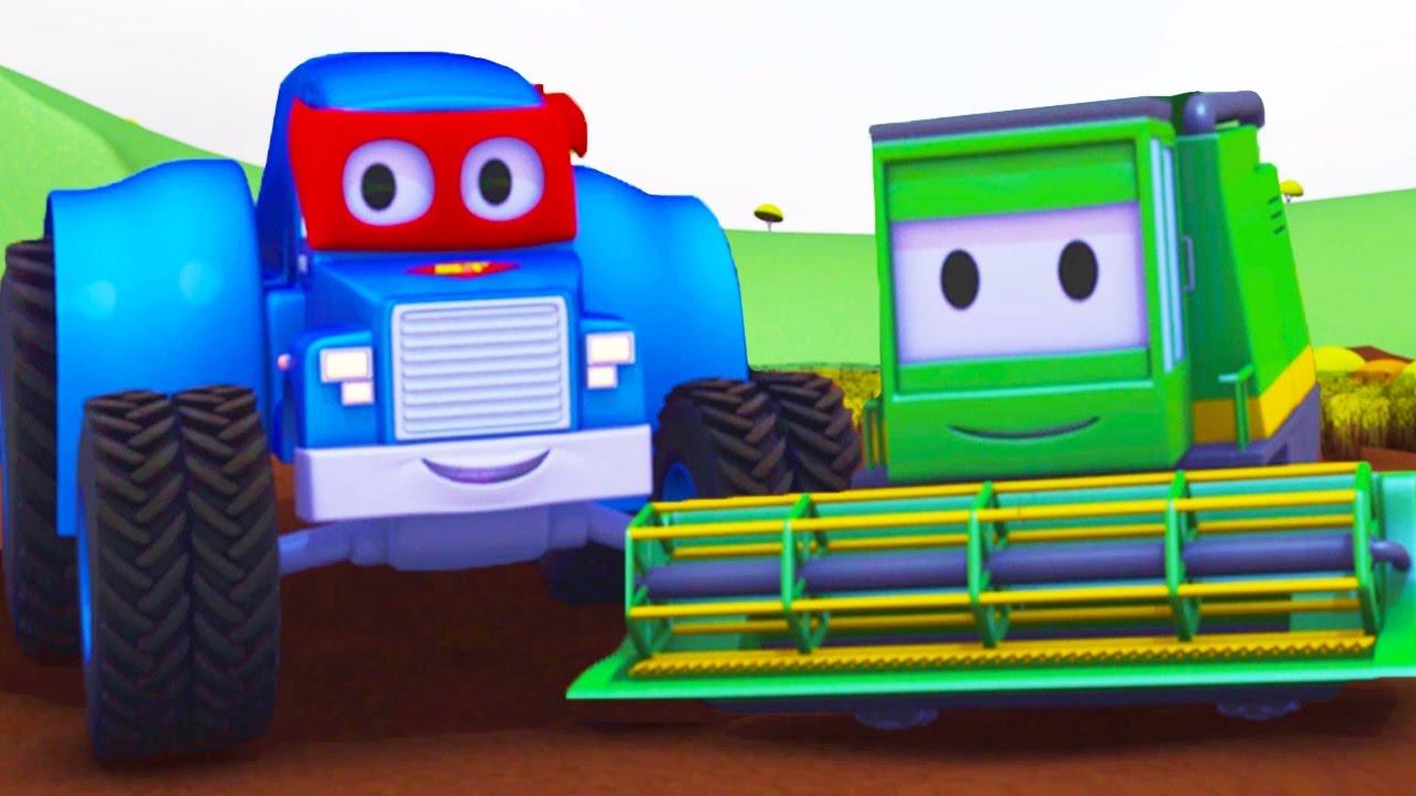 Carl le camion transformer et la moissonneuse car city dessin anim pour enfants youtube - Moissonneuse cars ...