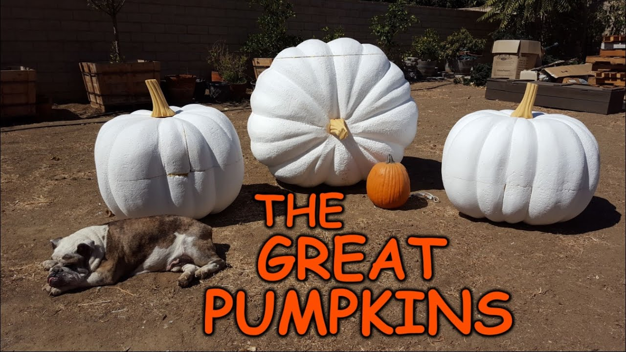 Carving Giant Pumpkins - Sculpting Foam Props & Decorations