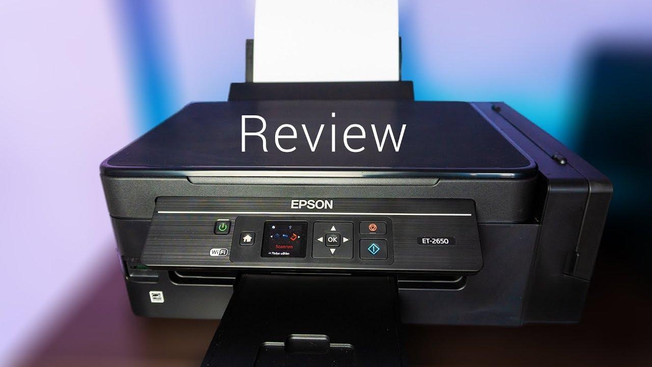 Review Epson ET-2650 - Der Drucker ohne Patronen - YouTube