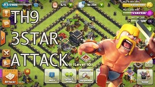[Clash of Clans]Clash Brothers First War TH9 3Star Attack!!!
