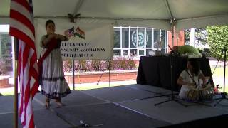 Kathak dance with tabla on Independence Day in Cleveland