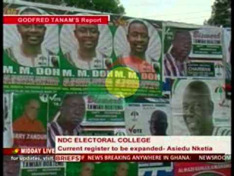 MiddayLive - NDC Electoral College Current Register To Be Expanded - 18/11/2014