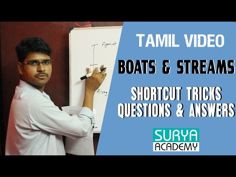 Boats & Streams Shortcuts, Questions & Answers | Tamil Video | Banking IBPS PO | SSC | TNPSC Exam