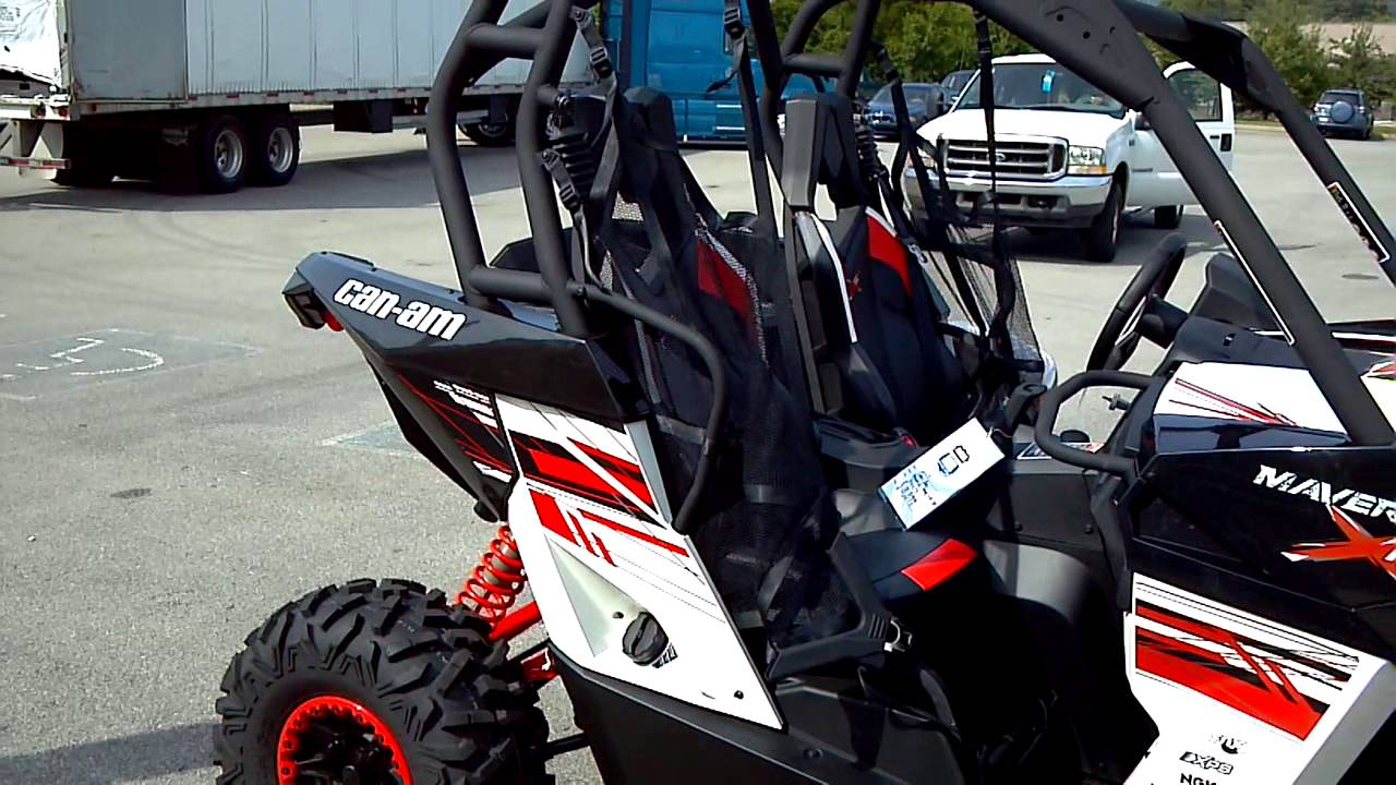 2014 maverick XRS Power Steering in White and Red @ Alcoa ... Can Am Maverick Xrs
