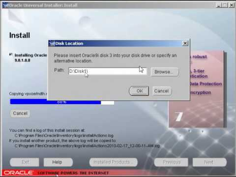 how to install oracle 9i database