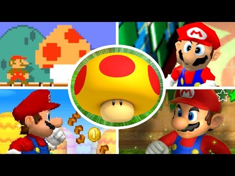 Thumbnail: Evolution of Mega Mushrooms in Mario Games (2000-2017)