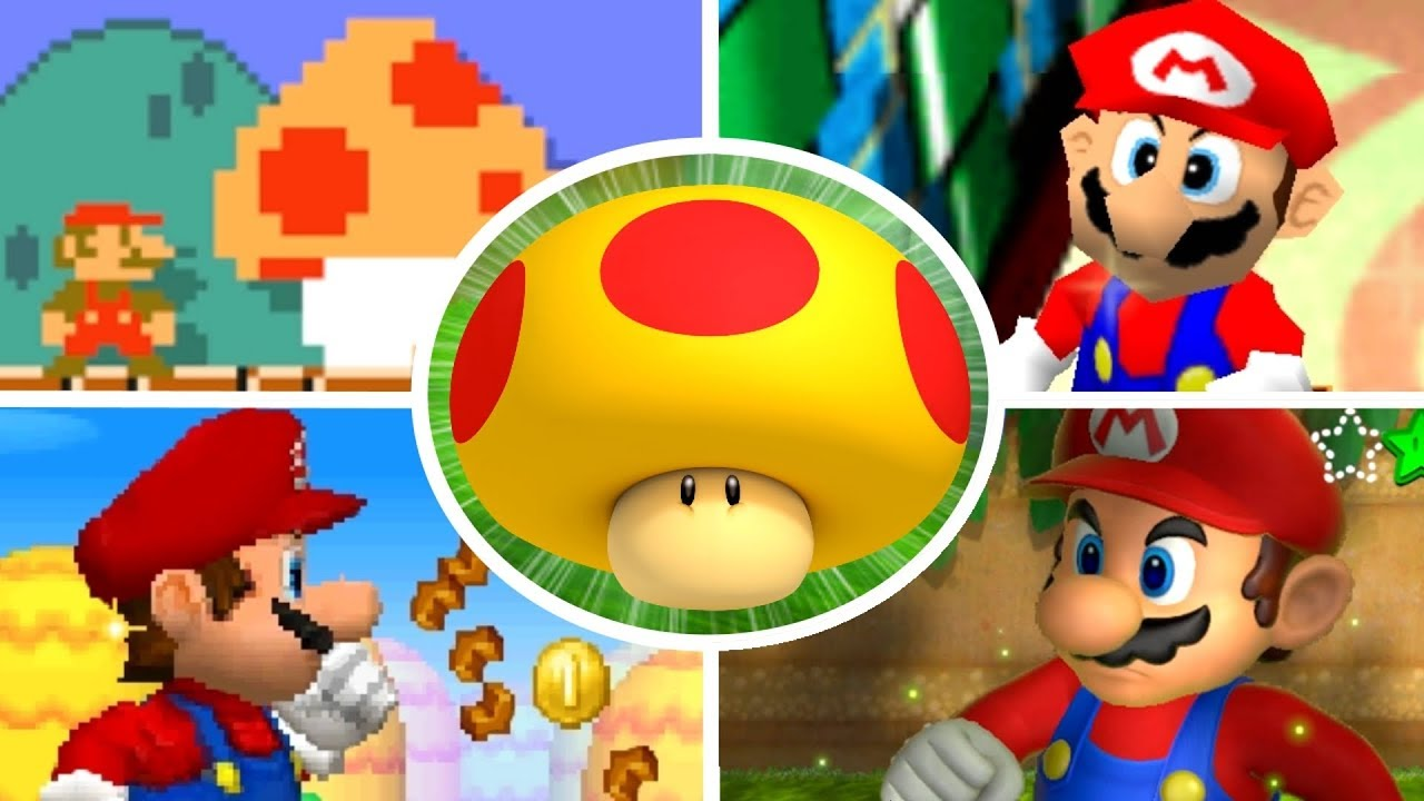 Evolution Of Mega Mushrooms In Mario Games 2000 2017 Youtube