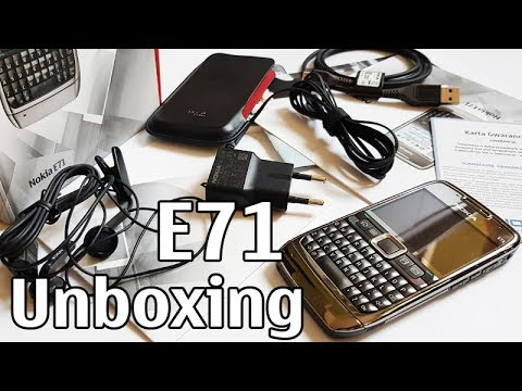 Nokia E71 Unboxing 4K with all original accessories RM-346 review