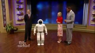 ASIMO on LIVE with Kelly and Michael