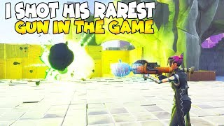 I Shot His Rarest Legacy Gun! (Scammer Gets Scammed) Fortnite Save The World