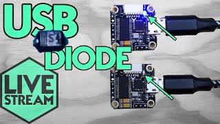Fix USB Power Diode Flight Controller | Live Stream