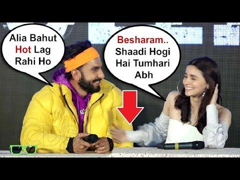 Alia Bhatt Hits Ranveer Singh For Flirting With Her At Gully Boy Trailer Launch