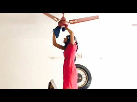 Indian Cleaning Routine / How To Clean Ceiling Fan In 2 Minutes / Priya Vlogz