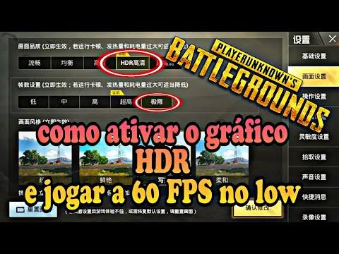 Pubg mobile LS, como ativar o gráfico HDR e jogar a 60 FPS no low! lightSpeed china ,preste atenção!