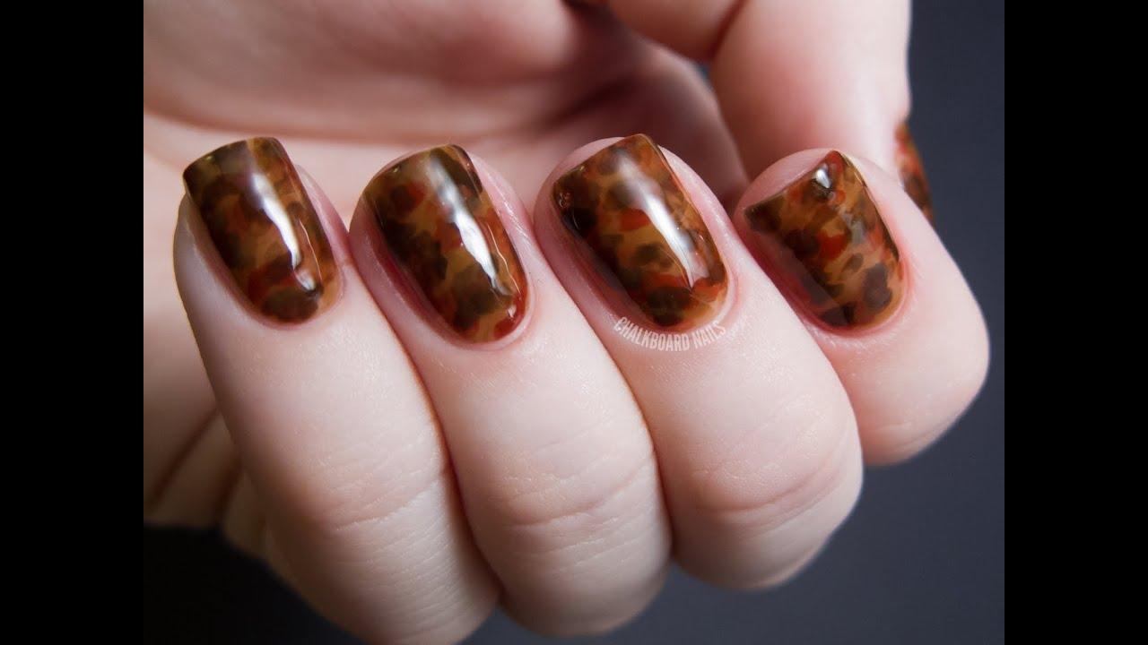 Tortoiseshell Effect Tutorial Chalkboard Nails