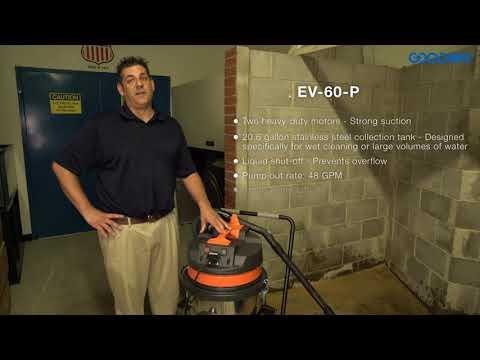 Goodway Technologies EV-60-P Pump Out Industrial Vacuum