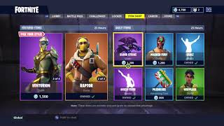 LA BOUTIQUE D'ARTICLES QUOTIDIENS «NEW» AUJOURD'HUI! SKIN RESET! FORTNITE BATTLE ROYALE (22/8/2018)