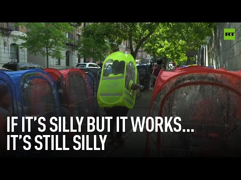 Better silly than sorry | New Yorkers bring PPE to a new level